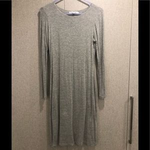 Heathered grey jersey bodycon dress